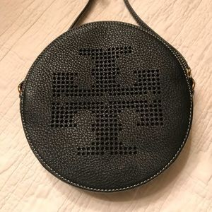 Tory Burch Black Leather Cross Body Bag